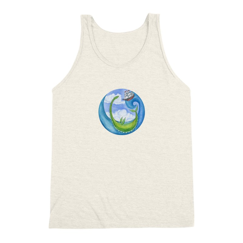 Sea Monster Play Time Men's Triblend Tank by FoxandCrow's Artist Shop