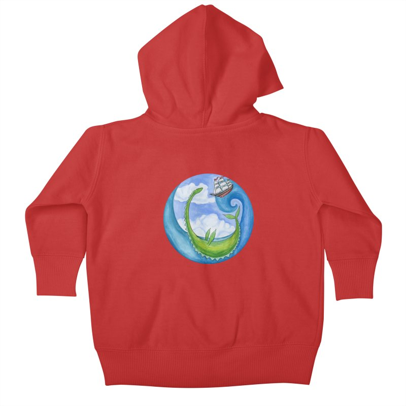 Sea Monster Play Time Kids Baby Zip-Up Hoody by FoxandCrow's Artist Shop