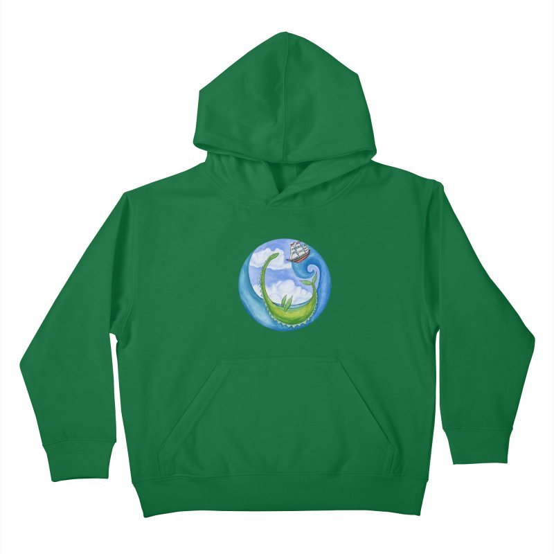 Sea Monster Play Time Kids Pullover Hoody by FoxandCrow's Artist Shop