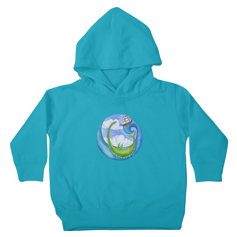 Sea Monster Play Time Kids Toddler Pullover Hoody by FoxandCrow's Artist Shop
