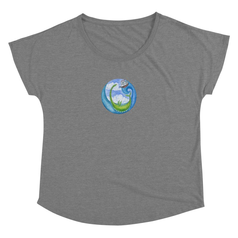 Sea Monster Play Time Women's Scoop Neck by FoxandCrow's Artist Shop