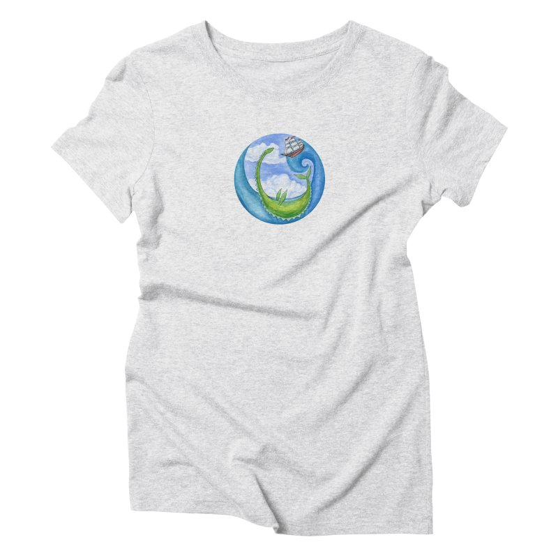 Sea Monster Play Time Women's T-Shirt by FoxandCrow's Artist Shop