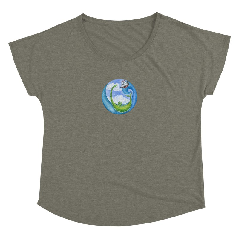 Sea Monster Play Time Women's Dolman Scoop Neck by FoxandCrow's Artist Shop