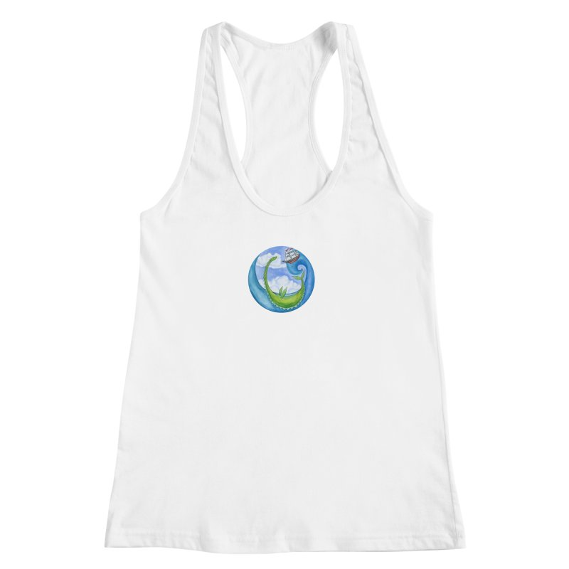 Sea Monster Play Time Women's Racerback Tank by FoxandCrow's Artist Shop