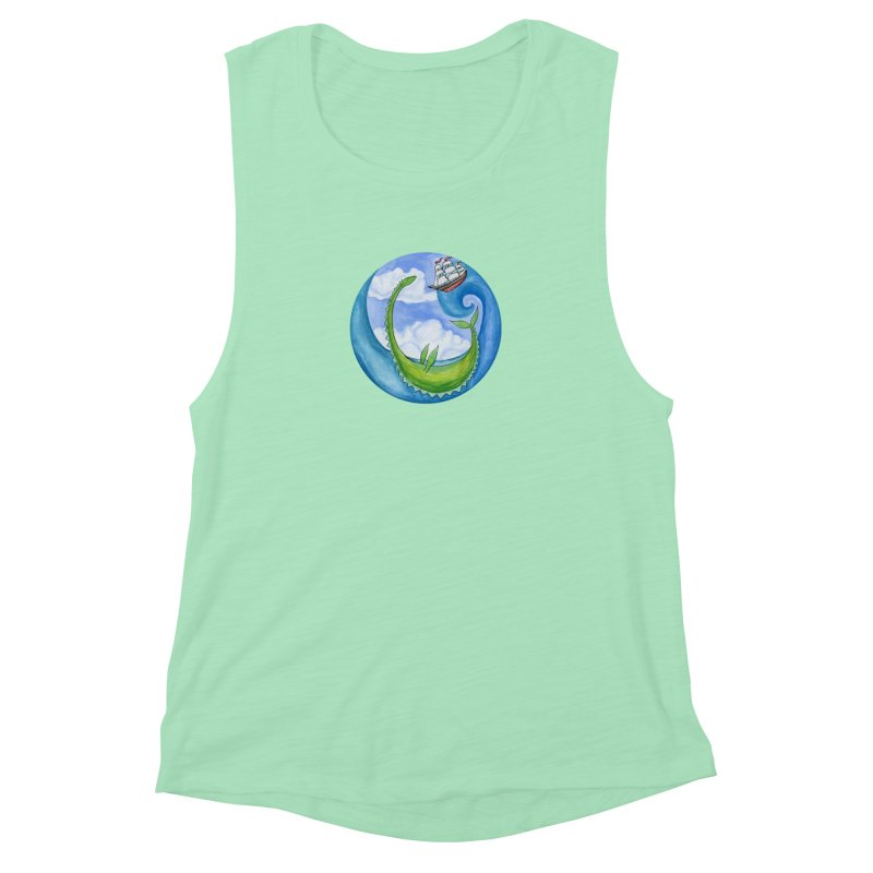 Sea Monster Play Time Women's Muscle Tank by FoxandCrow's Artist Shop