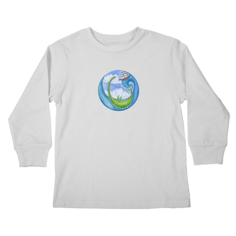 Sea Monster Play Time Kids Longsleeve T-Shirt by FoxandCrow's Artist Shop