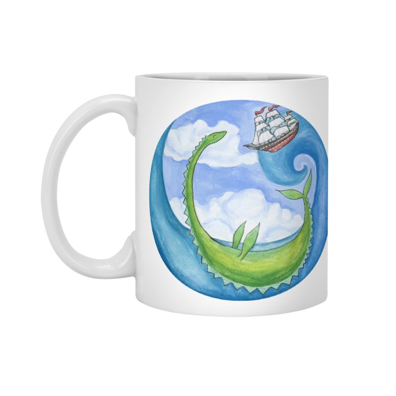 Sea Monster Play Time Accessories Standard Mug by FoxandCrow's Artist Shop