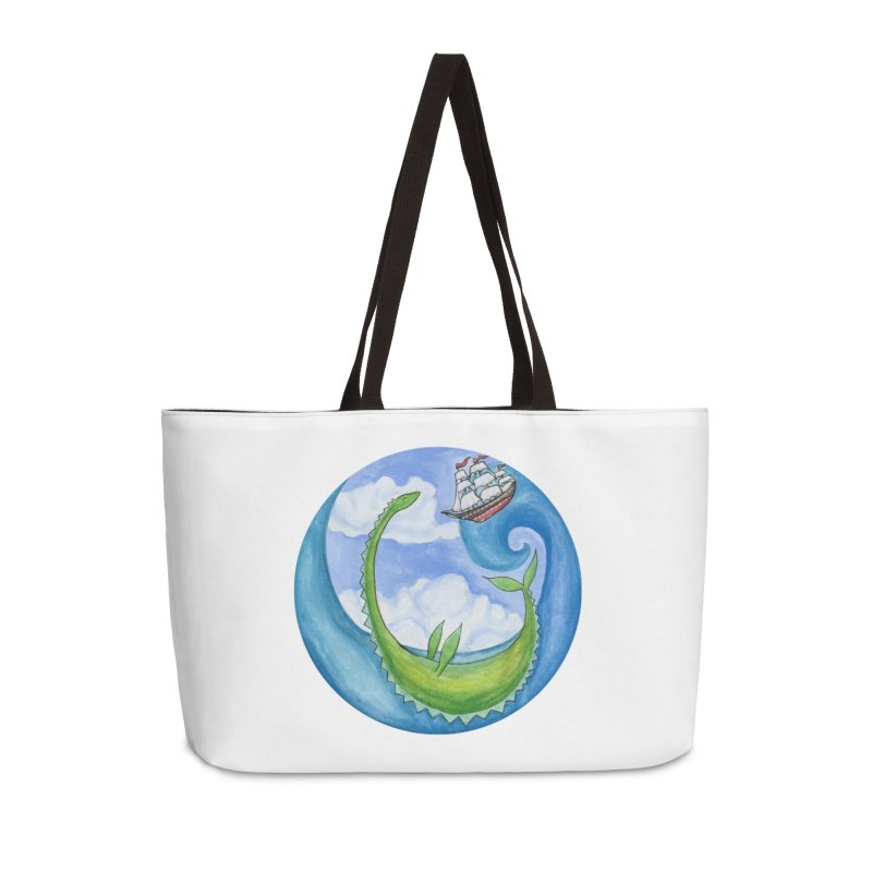 Sea Monster Play Time Accessories Bag by FoxandCrow's Artist Shop