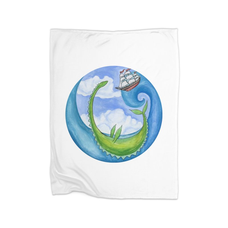 Sea Monster Play Time Home Blanket by FoxandCrow's Artist Shop