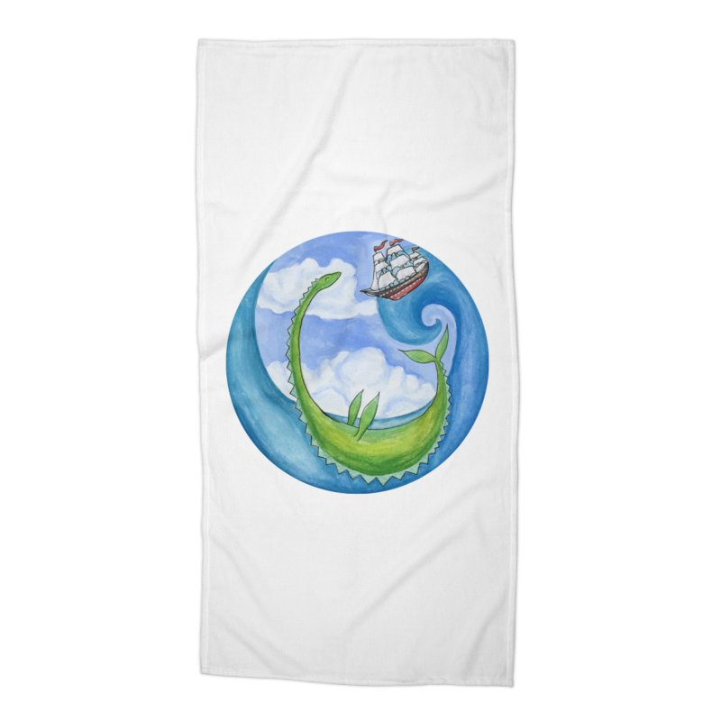 Sea Monster Play Time Accessories Beach Towel by FoxandCrow's Artist Shop