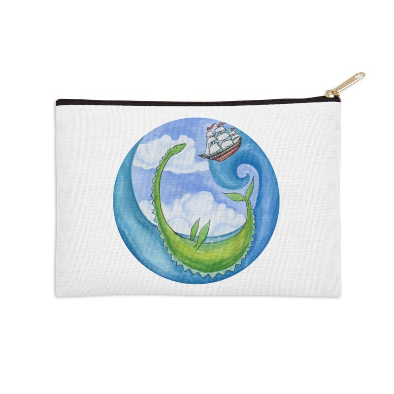 Sea Monster Play Time Accessories Zip Pouch by FoxandCrow's Artist Shop