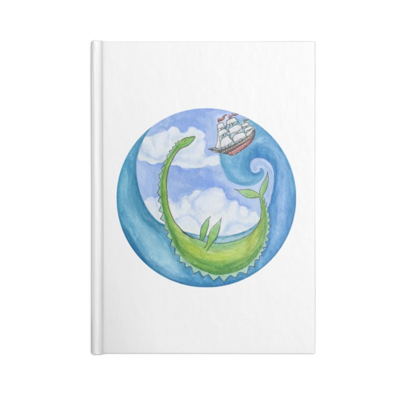 Sea Monster Play Time Accessories Blank Journal Notebook by FoxandCrow's Artist Shop