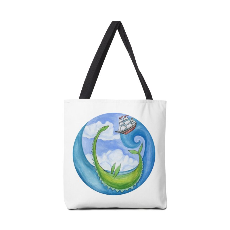 Sea Monster Play Time Accessories Tote Bag Bag by FoxandCrow's Artist Shop