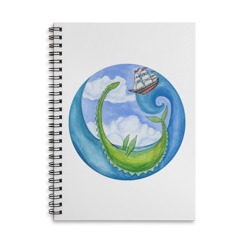 Sea Monster Play Time Accessories Lined Spiral Notebook by FoxandCrow's Artist Shop