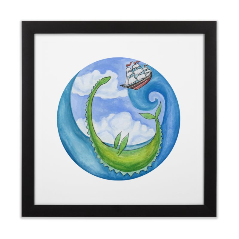 Sea Monster Play Time Home Framed Fine Art Print by FoxandCrow's Artist Shop