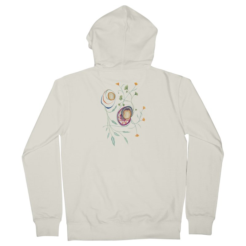 Growth and Flow Women's French Terry Zip-Up Hoody by FoxandCrow's Artist Shop