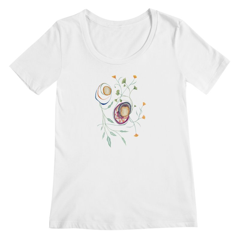 Growth and Flow Women's Regular Scoop Neck by FoxandCrow's Artist Shop
