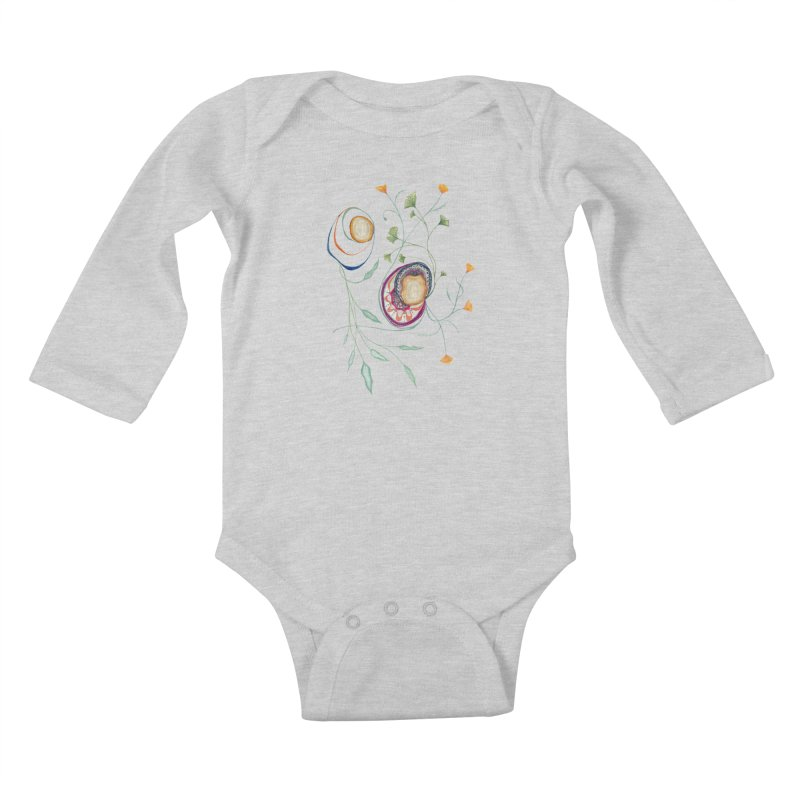 Growth and Flow Kids Baby Longsleeve Bodysuit by FoxandCrow's Artist Shop