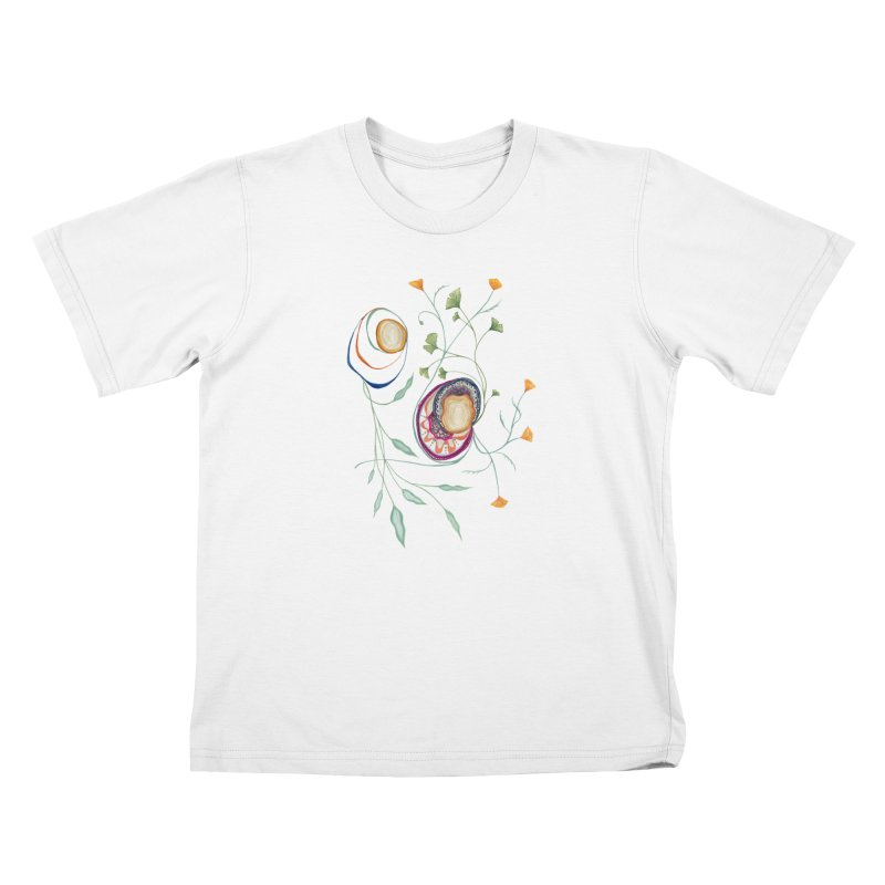 Growth and Flow Kids T-Shirt by FoxandCrow's Artist Shop