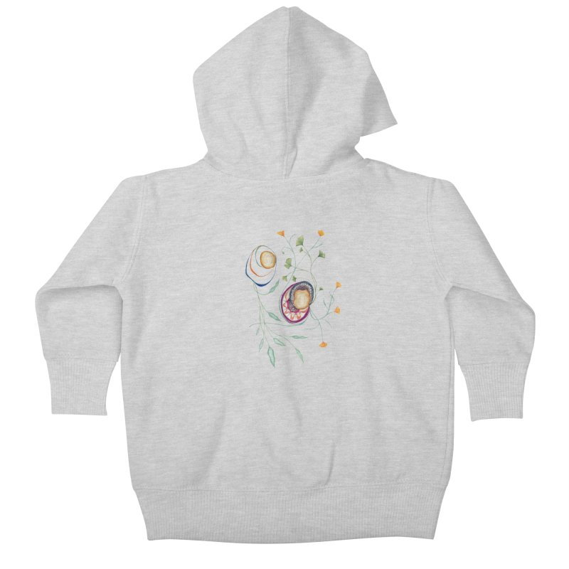 Growth and Flow Kids Baby Zip-Up Hoody by FoxandCrow's Artist Shop