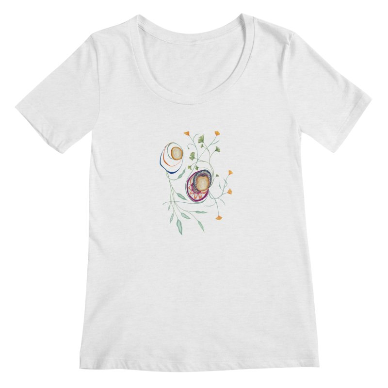 Growth and Flow Women's Scoop Neck by FoxandCrow's Artist Shop
