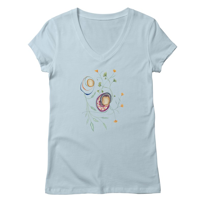 Growth and Flow Women's Regular V-Neck by FoxandCrow's Artist Shop