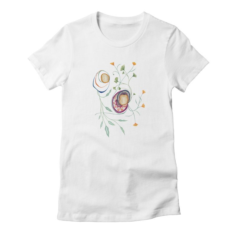 Growth and Flow Women's Fitted T-Shirt by FoxandCrow's Artist Shop