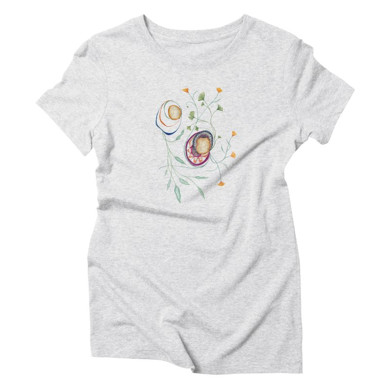 Growth and Flow Women's Triblend T-Shirt by FoxandCrow's Artist Shop