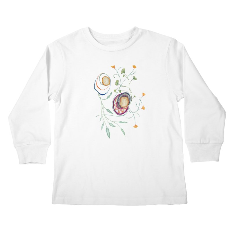 Growth and Flow Kids Longsleeve T-Shirt by FoxandCrow's Artist Shop