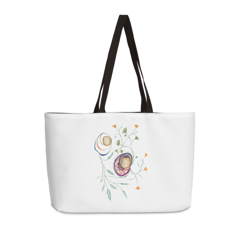 Growth and Flow Accessories Weekender Bag Bag by FoxandCrow's Artist Shop