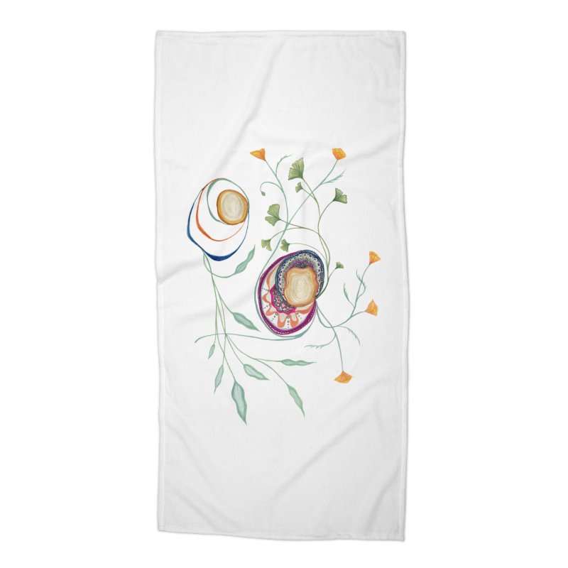 Growth and Flow Accessories Beach Towel by FoxandCrow's Artist Shop