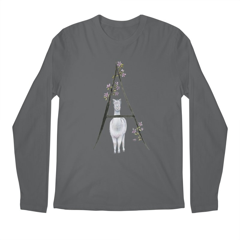 A is for Alpaca and Azalea Men's Longsleeve T-Shirt by FoxandCrow's Artist Shop
