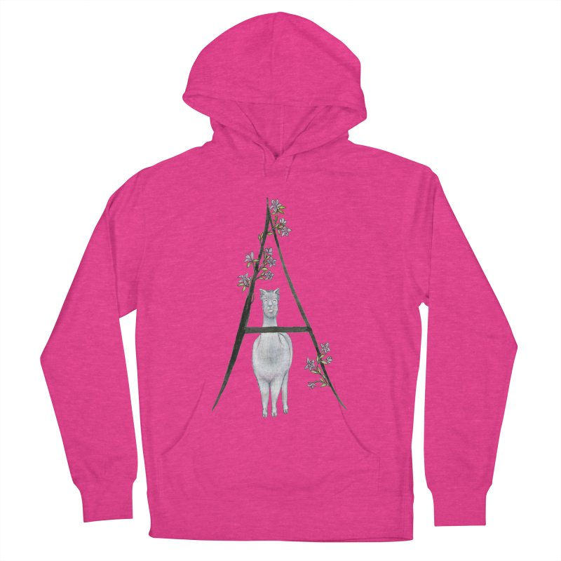 A is for Alpaca and Azalea Men's French Terry Pullover Hoody by FoxandCrow's Artist Shop