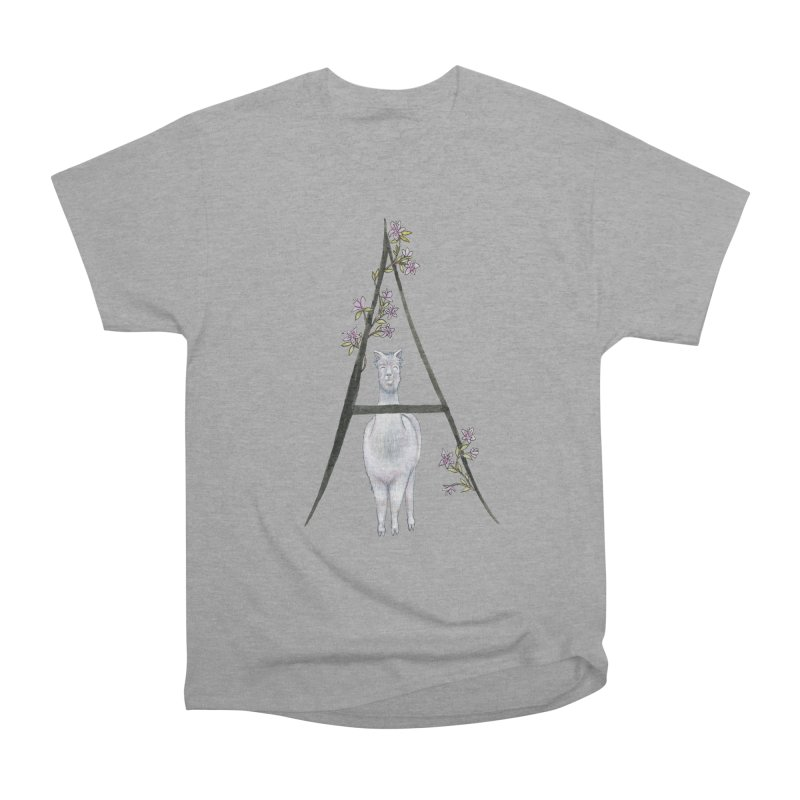 A is for Alpaca and Azalea Men's Heavyweight T-Shirt by FoxandCrow's Artist Shop