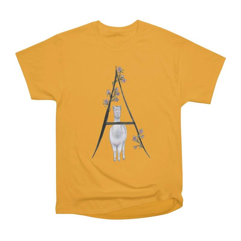 A is for Alpaca and Azalea Women's Heavyweight Unisex T-Shirt by FoxandCrow's Artist Shop