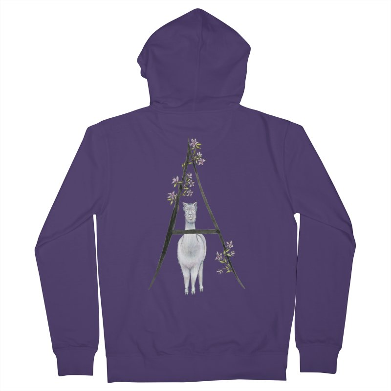 A is for Alpaca and Azalea Women's Zip-Up Hoody by FoxandCrow's Artist Shop