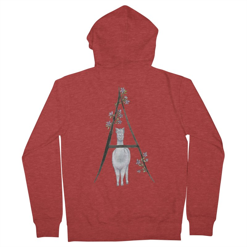 A is for Alpaca and Azalea Men's French Terry Zip-Up Hoody by FoxandCrow's Artist Shop