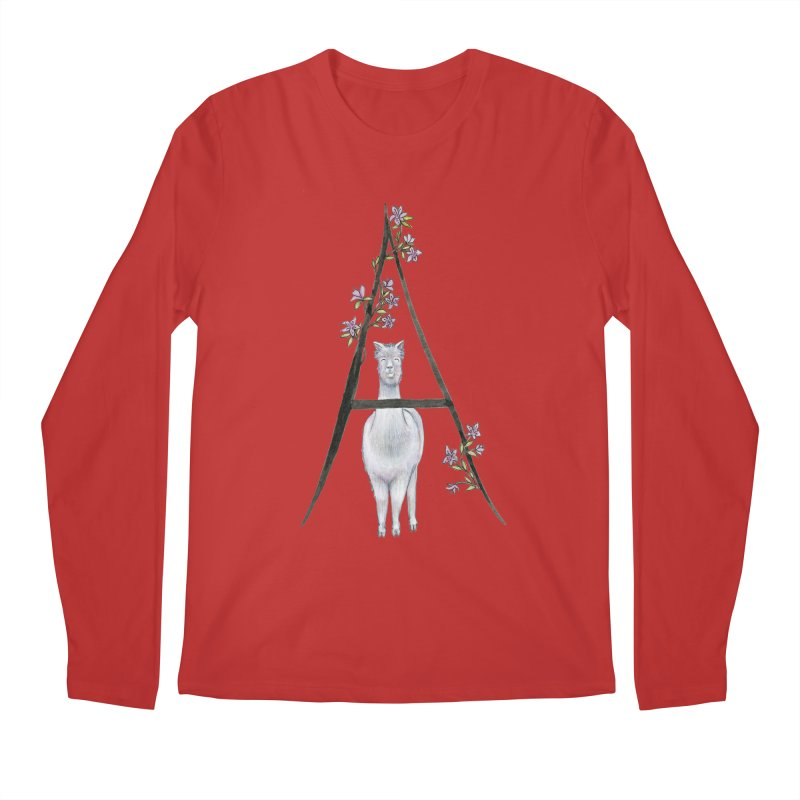 A is for Alpaca and Azalea Men's Regular Longsleeve T-Shirt by FoxandCrow's Artist Shop