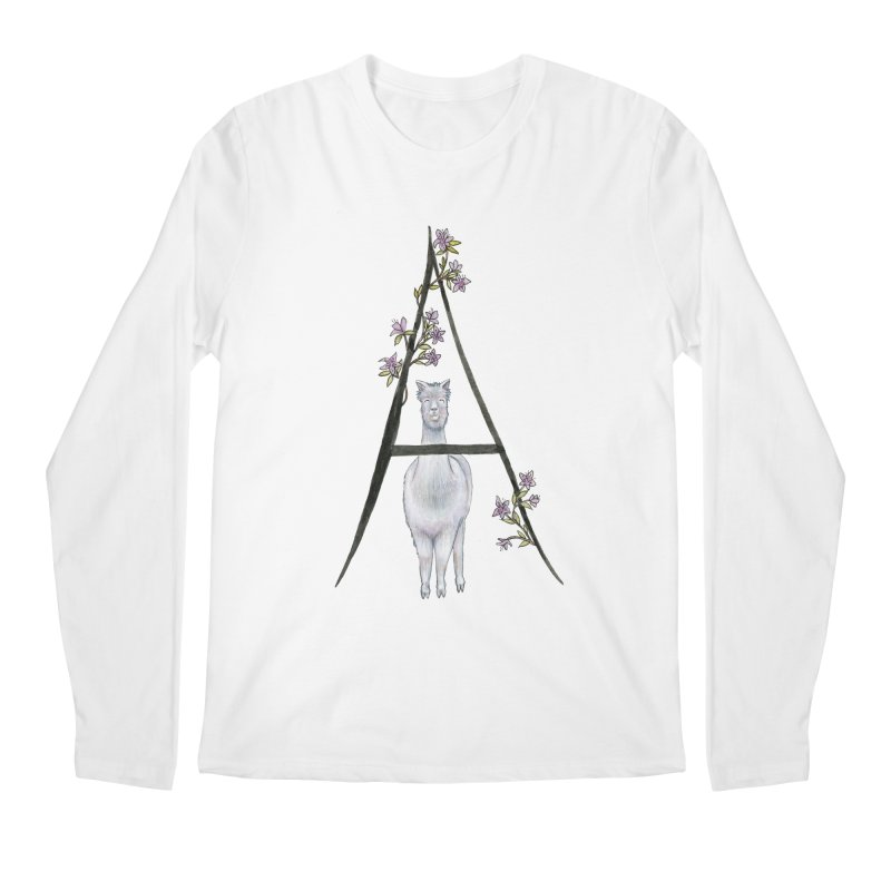 A is for Alpaca and Azalea Men's Regular Longsleeve T-Shirt by FoxandCrow's Artist Shop