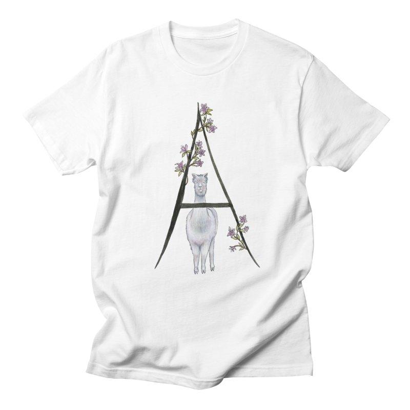 A is for Alpaca and Azalea Women's Regular Unisex T-Shirt by FoxandCrow's Artist Shop
