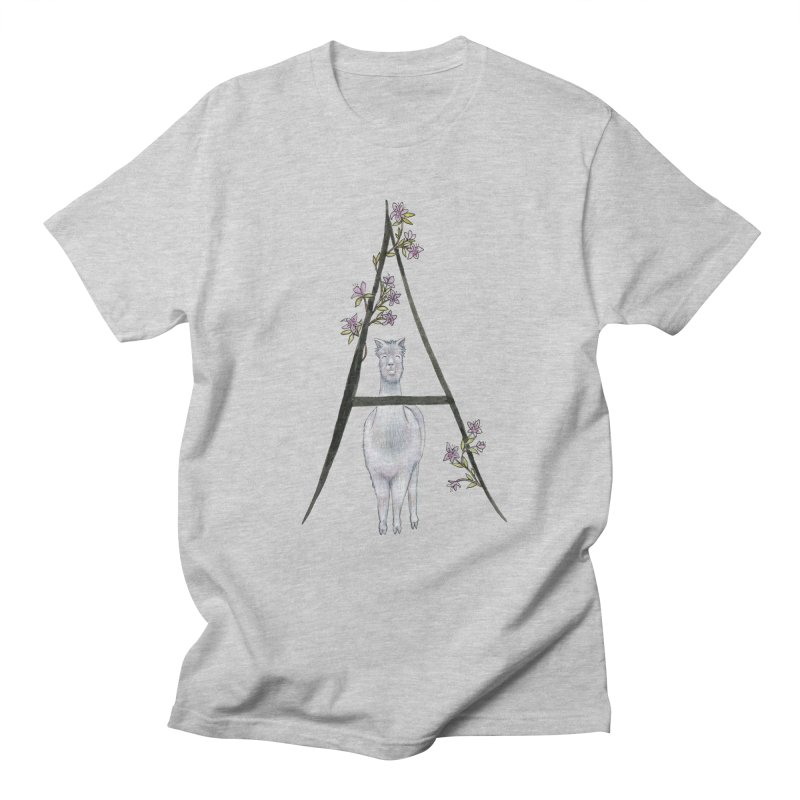 A is for Alpaca and Azalea Men's Regular T-Shirt by FoxandCrow's Artist Shop