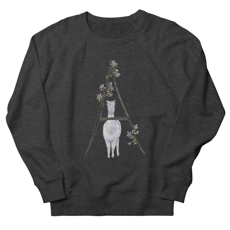 A is for Alpaca and Azalea Women's French Terry Sweatshirt by FoxandCrow's Artist Shop