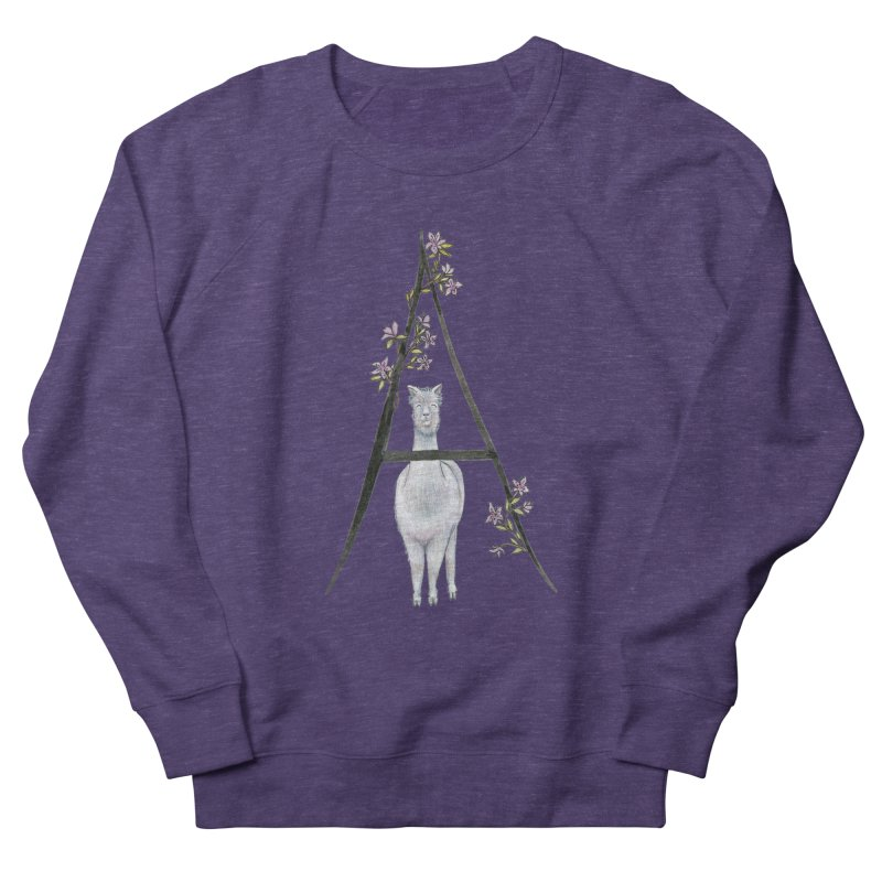 A is for Alpaca and Azalea Men's French Terry Sweatshirt by FoxandCrow's Artist Shop