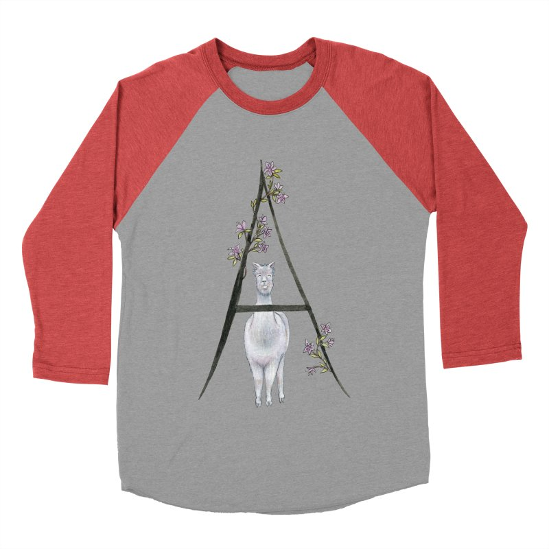 A is for Alpaca and Azalea Women's Baseball Triblend Longsleeve T-Shirt by FoxandCrow's Artist Shop