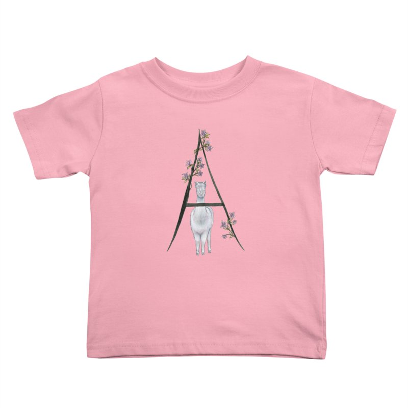 A is for Alpaca and Azalea Kids Toddler T-Shirt by FoxandCrow's Artist Shop