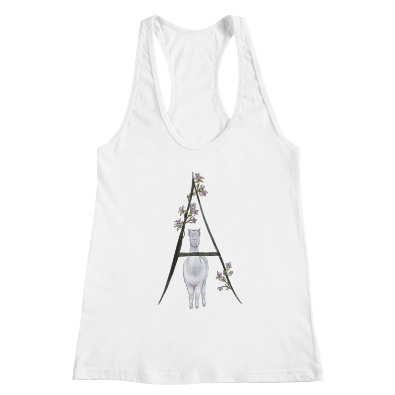 A is for Alpaca and Azalea Women's Tank by FoxandCrow's Artist Shop