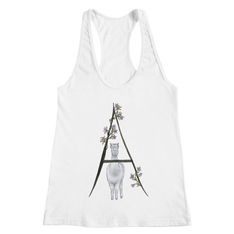 A is for Alpaca and Azalea Women's Racerback Tank by FoxandCrow's Artist Shop