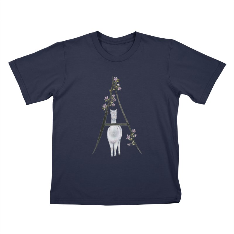 A is for Alpaca and Azalea Kids T-Shirt by FoxandCrow's Artist Shop