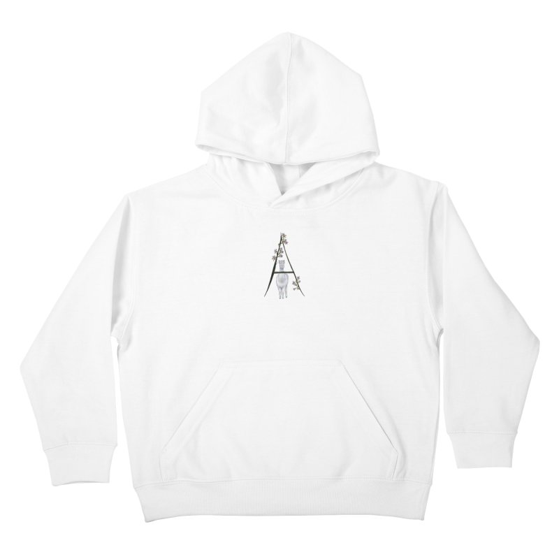 A is for Alpaca and Azalea Kids Pullover Hoody by FoxandCrow's Artist Shop