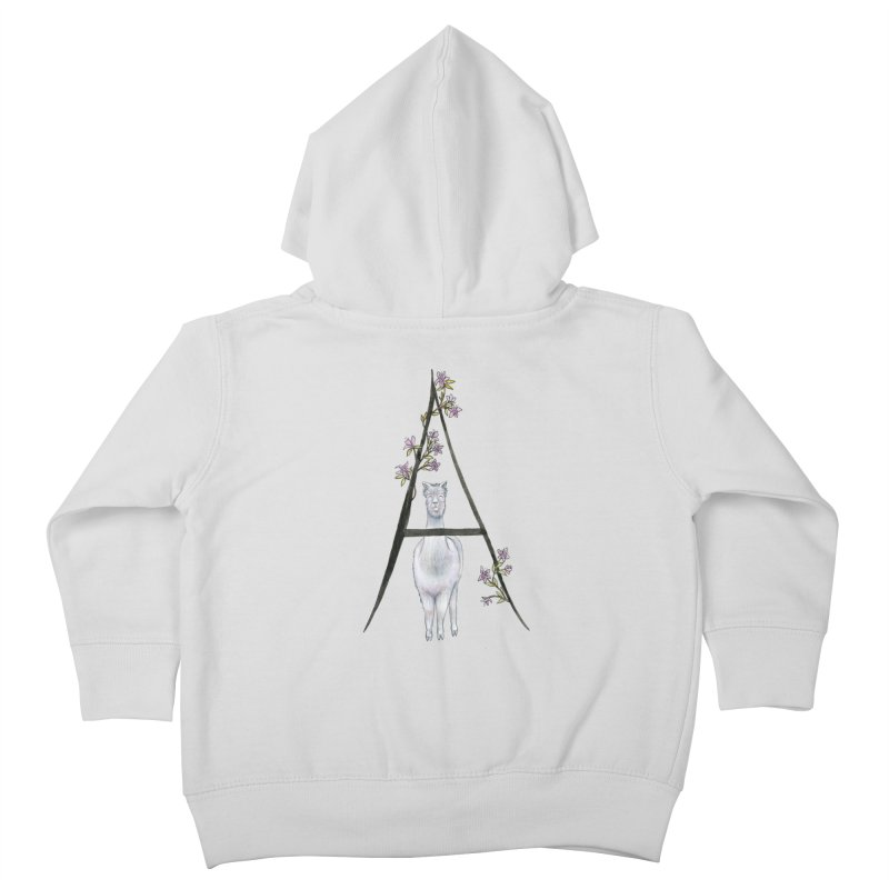 A is for Alpaca and Azalea Kids Toddler Zip-Up Hoody by FoxandCrow's Artist Shop